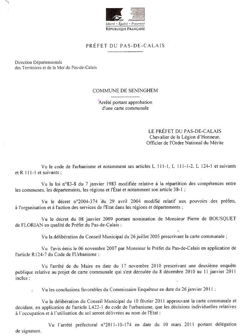 arrêté délégation de signature
